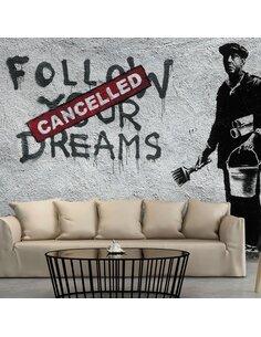 Papier peint DREAMS CANCELLED BANSKY - par Artgeist