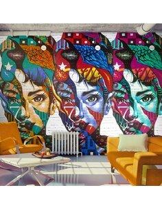 Papier peint COLORFUL FACES - par Artgeist