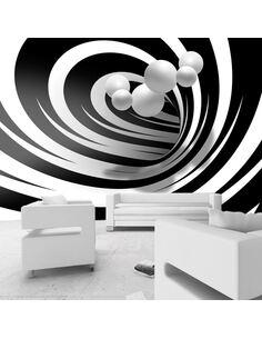 Papier peint TWISTED IN BLACK & WHITE - par Artgeist