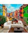 Papier peint COLORFUL CANAL IN BURANO - par Artgeist