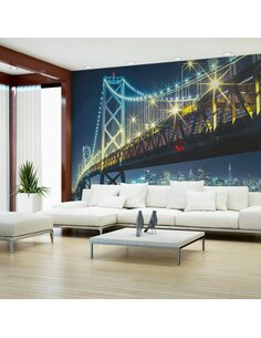 Papier peint BAY BRIDGE AT NIGHT - par Artgeist