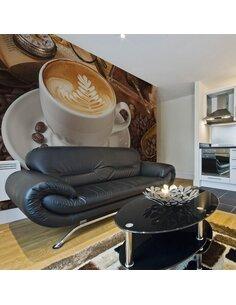 Papier peint PEUT-ÊTRE LE CAFÉ? - par Artgeist
