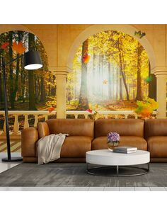 Papier peint DREAM ABOUT AUTUMNAL FOREST - par Artgeist