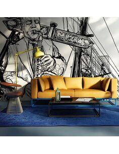 Papier peint SAXOPHONE RECITAL ON BROADWAY - par Artgeist