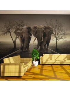 Papier peint CITY OF ELEPHANTS - par Artgeist