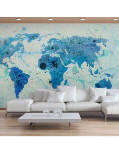 Papier peint CRUISING AND SAILING THE WORLD MAP - par Artgeist