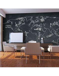 Papier peint SMALL TRAVEL. LARGE TRAVEL EN ITALIEN - par Artgeist