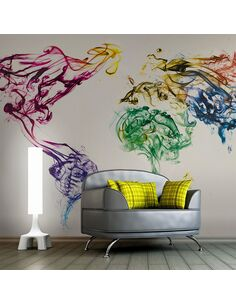 Papier peint DANCING SMOKE TRAILS - par Artgeist
