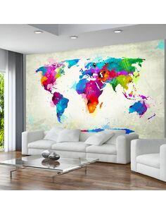 Papier peint THE MAP OF HAPPINESS - par Artgeist
