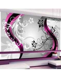 Papier peint ART-FLOWERS PINK - par Artgeist