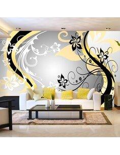 Papier peint ART-FLOWERS YELLOW - par Artgeist