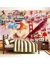 Papier peint HOLLYWOOD, MIAMI, LOS ANGELES... - par Artgeist