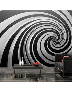 Papier peint grand format EN N&B SWIRL - par Artgeist