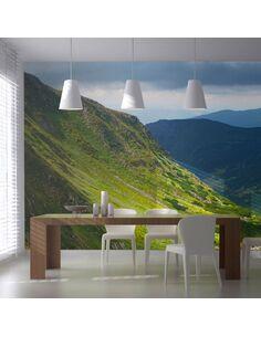 Papier peint grand format GREEN MOUNTAIN LANDSCAPE - par Artgeist
