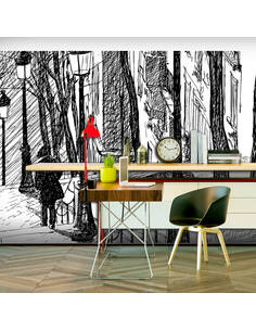 Papier peint grand format ESCALIERS MONTMARTRE - par Artgeist