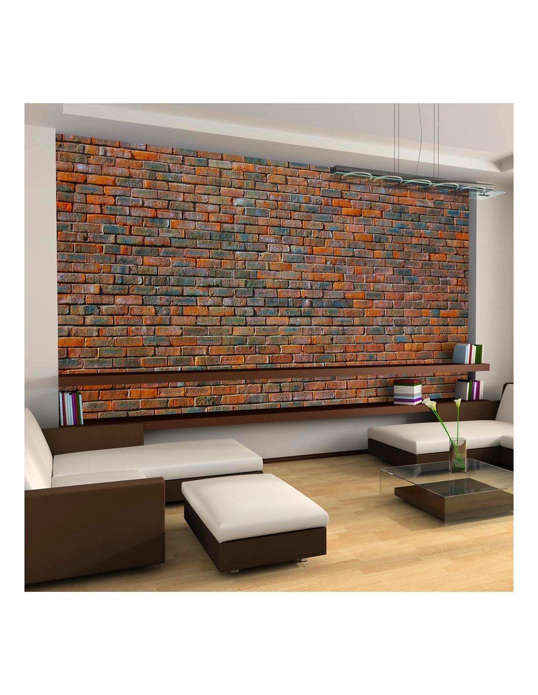 Etagere Sur Mur En Brique papier peint xxl mur en briques   artgeist   gris