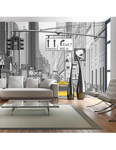 Papier peint grand format BD TAXIS JAUNES À NEW YORK - par Artgeist