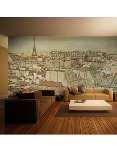 Papier peint grand format AU REVOIR PARIS ! - par Artgeist