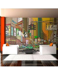 Papier peint grand format VILLE ANIMÉE NY - par Artgeist