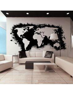 Papier peint grand format WHITE CONTINENTS, BLACK OCEANS... - par Artgeist
