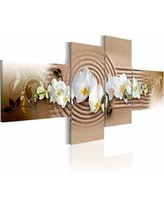 Tableau - 4 tableaux - Prière Orchidées Artgeist