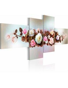 Tableau, en 4 Tableaux, BOUQUETS DE ROSES - par Artgeist