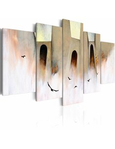 Tableau - 5 tableaux - Liberté Abstractions Artgeist