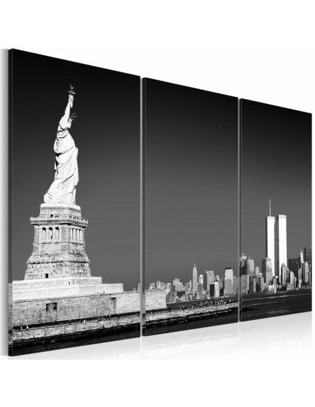 Tableau, triptyque, STATUE DE LA LIBERTÉ - New York par Artgeist