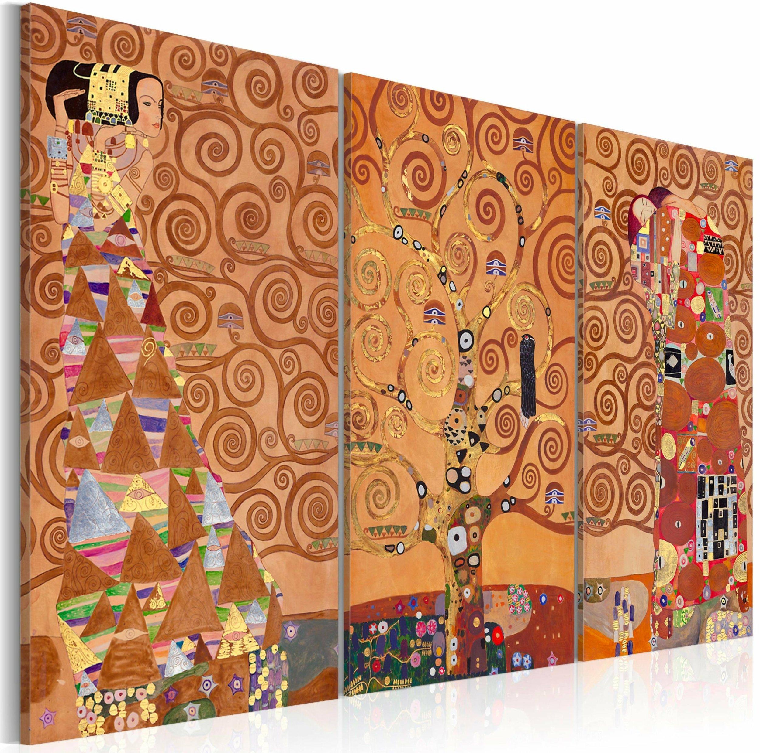 Klimt L Arbre De Vie Tableau tableau l'arbre de vie | artgeist | jaune