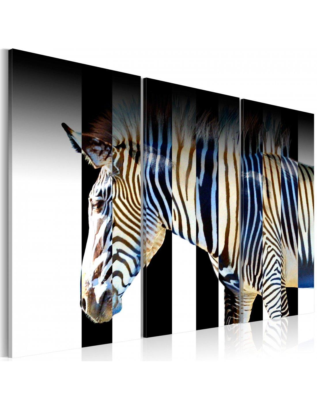 tableau triptyque rayures 74 90 chez recollection. Black Bedroom Furniture Sets. Home Design Ideas