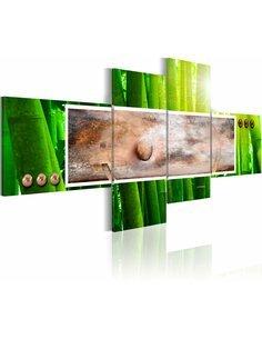 Tableau, en 4 Tableaux, ABSTRACTION ET BAMBOU - par Artgeist