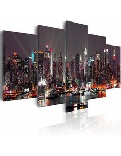 Tableau, en 5 Tableaux, NEW YORK, NEW YORK... - par Artgeist