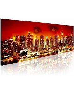 Tableau panoramique REGARD SUR NEW YORK - par Artgeist