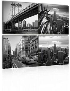 Tableau - 4 tableaux - Élégance de New York New York Artgeist
