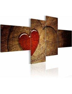 Tableau - 4 tableaux - Ancien amour ne rouille pas - 4 pièces Amour Artgeist