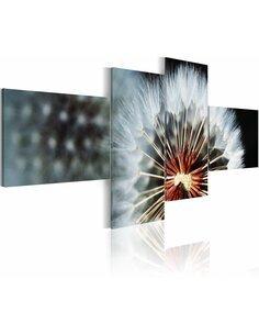 Tableau - 4 tableaux - Pissenlit - 4 pièces Fleurs variées Artgeist