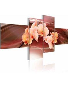 Tableau - 4 tableaux - Orchidée rose - par Artgeist