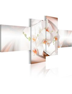 Tableau - 4 tableaux - Orchidée - la plus belle fleur du monde - par Artgeist