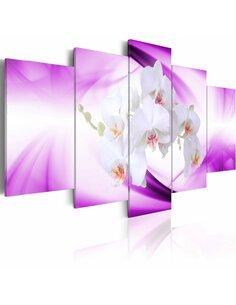 Tableau - 5 tableaux - Belle fleur, orchidée - par Artgeist