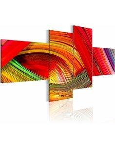 Tableau - 4 tableaux - Bondes multicolores - par Artgeist