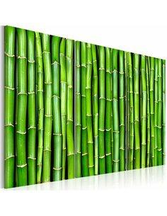 Tableau Triptyque - Mur de bambou Zen Artgeist