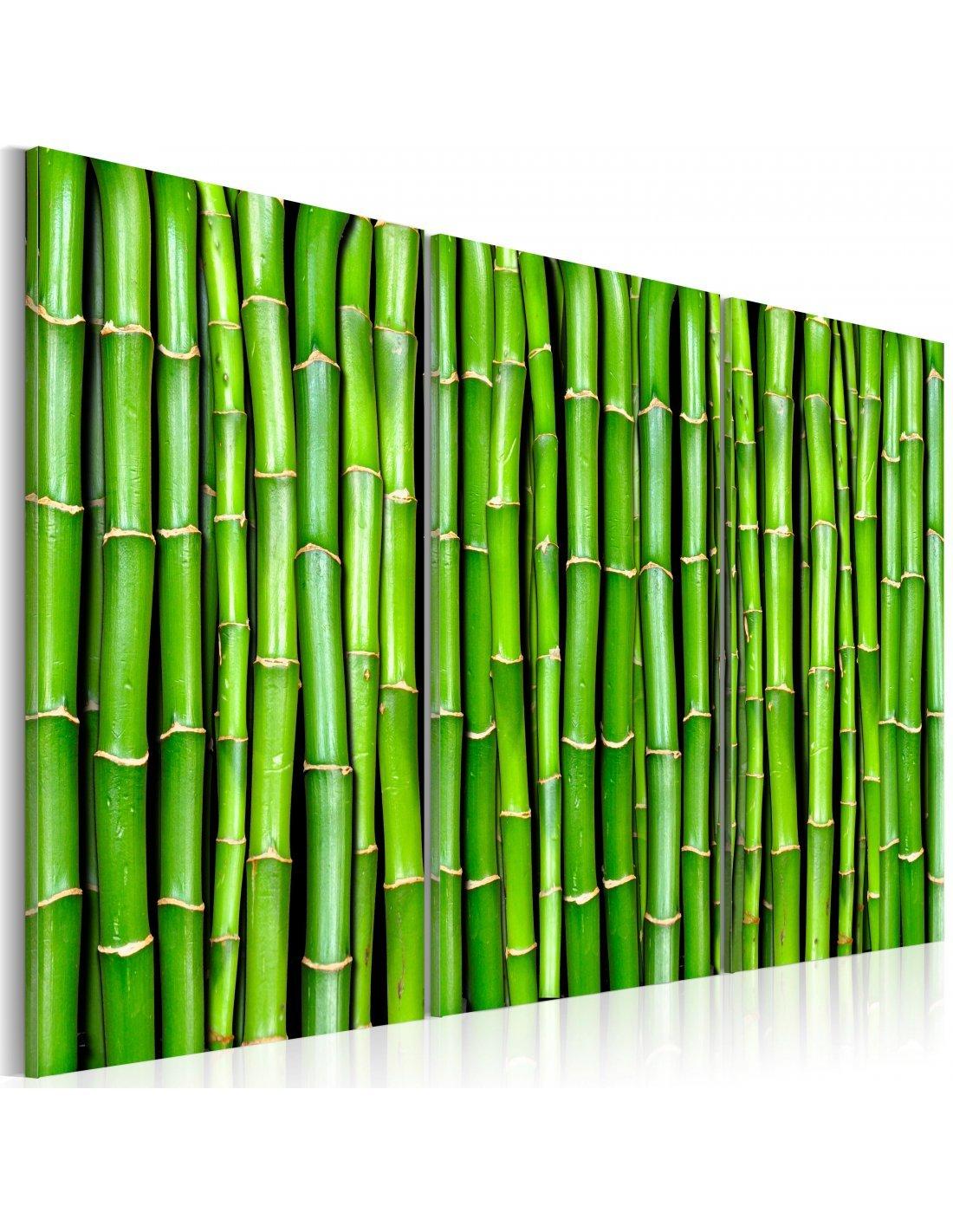 tableau triptyque mur de bambou artgeist. Black Bedroom Furniture Sets. Home Design Ideas