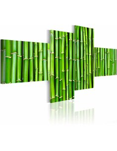Tableau - 4 tableaux - Tiges de bambou Zen Artgeist