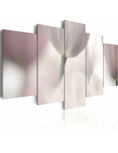Tableau - 5 tableaux - Tulipe en nuances de gris - par Artgeist