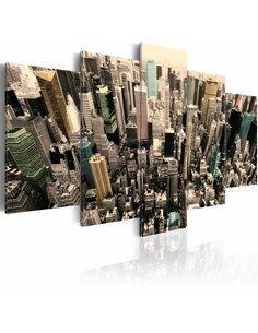 Tableau - 5 tableaux - New York - vue sur les gratte-ciels - par Artgeist