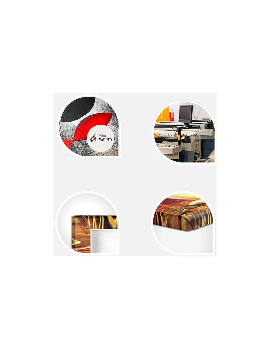 tableau 5 tableaux m tal avec l 39 accent du rouge 84 90 chez. Black Bedroom Furniture Sets. Home Design Ideas