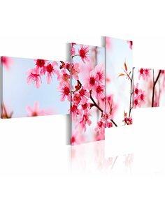 Tableau - 4 tableaux - Beauté de la fleur de cerisier Fleurs variées Artgeist