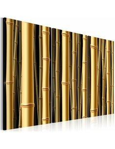 Tableau Triptyque - Tiges marron de bambou Zen Artgeist