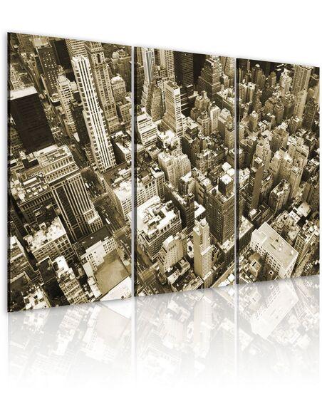 Tableau Triptyque - New York - vue d' oiseau New York Artgeist