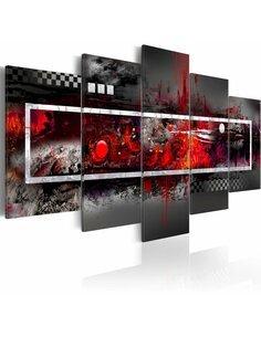 Tableau Vision Grise Avec L'Accent Rouge  - par Artgeist